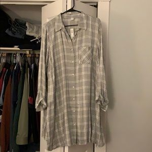 Tunic dress plaid old navy